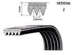 Cinghia trapezoidale trapezoidale 18 PJ 610 mm 240 J